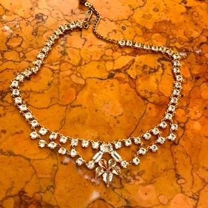 Sparkly clear rhinestone necklace